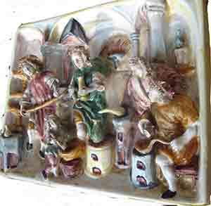 Preparazione della Terìaca - Formella in ceramica -