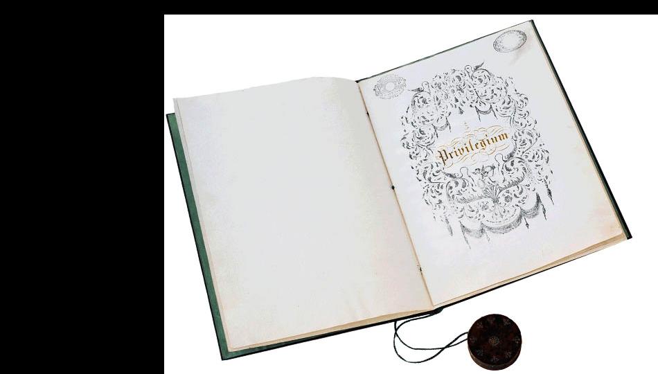 """Frontespizio del """"Privilegium""""(documento di laurea del 1846)"""