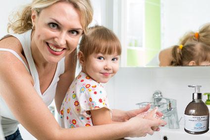Igiene quotidiana col sapone SilverSalus(TM)