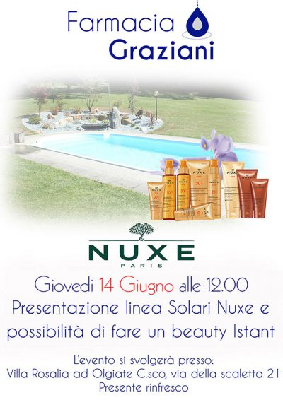 Giovedi 14 giugno evento Nuxa